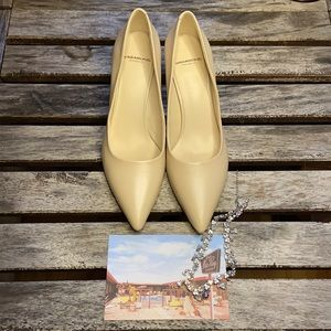 Vagabond toffee leather heels size 38 BNWOT